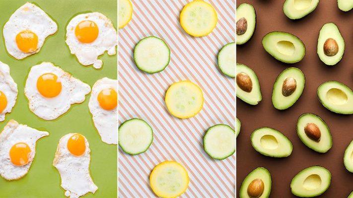 Trứng ốp và quả bơ